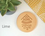 Home Sweet Home Engraved Wooden Coaster