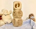 Personalised Wooden Baby Blocks
