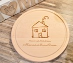Personalised New Home Wooden Cheese / Chopping Board