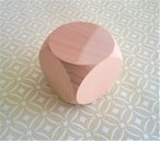 Extra Large Plain Wooden Square Dice - 60mm