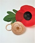 Engraved Poppy Keyring - Personalised  Remembrance Day