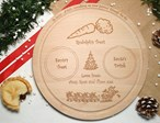 Santa Plate, Personalised Father Christmas wooden treat board