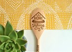 Home Sweet Home Design - Personalised Wooden Spoon