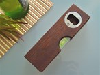 Wooden Bottle Opener with Built In Spirit Level