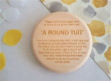 `A Round Tuit Turned Wooden Coaster - Beech