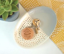 Home Sweet Home Round  Wooden Keyring