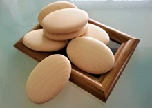 Large Wooden Pebbles | Hand crafted wooden pebbles