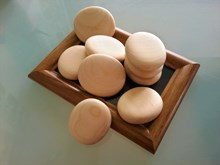 Medium Wooden Pebbles | Hand crafted wooden pebbles