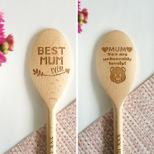Mother's Day Design - Personalised Wooden Spoon