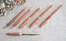 Rosewood or Maple Ballpoint, Biro pen, Pencil, Letter opener wood