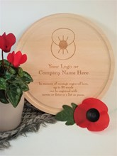 Engraved Remembrance Day Memorial Plaque - Poppy Board