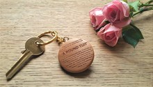 A Round Tuit Wooden Keyring