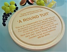 A Round Tuit Wooden Cheese Board (25cm)
