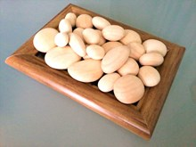 Small Wooden Pebbles | Ideal as wedding favours