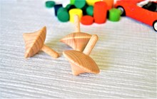 Natural Wooden Spinning Top