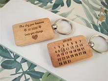 Personalised Calendar Keyrings