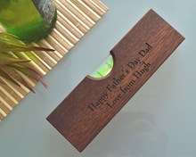 Wooden Bottle Opener with Built In Spirit Level | Ideal for tradesmen`s pockets