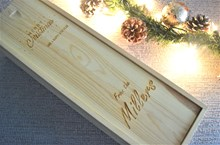 Personalised Wooden Wine Box - Pine