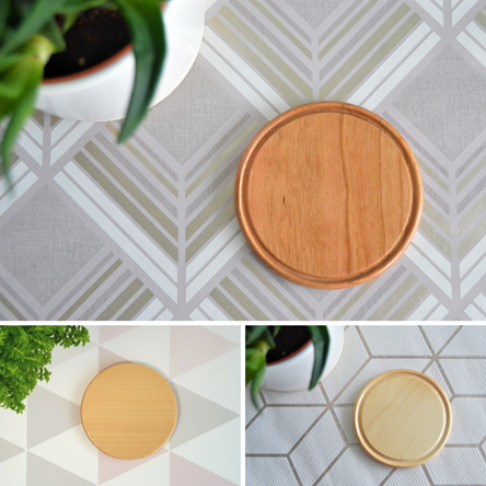 Turned Wooden Coasters - Various Timbers - Plain