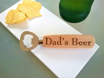 Wooden Bottle Opener with handle