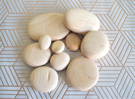 Imperfect Wooden Pebbles - Various Sizes