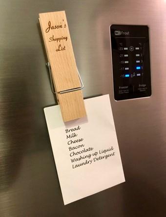 Wooden Peg Fridge Magnet