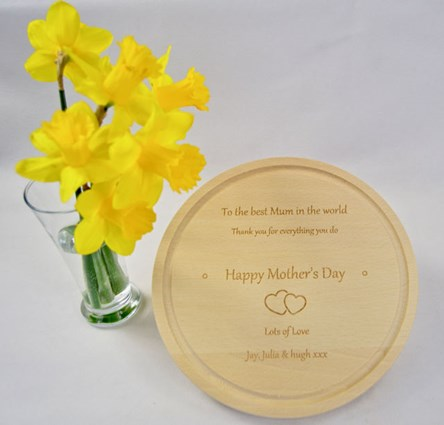 Personalised Mother`s Day Cheese / Chopping Board