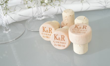 Personalised Wooden Wine Stopper Corks - Create your own