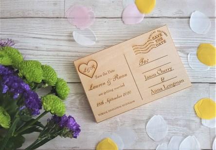 Engraved Wooden Postcards
