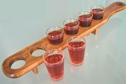 Wooden Shot Glass Paddle Set