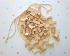 Hand Crafted Natural Wooden Building Blocks, Suitable for 18 months plus