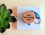 Personalised Wooden Cork Flat Key Rings