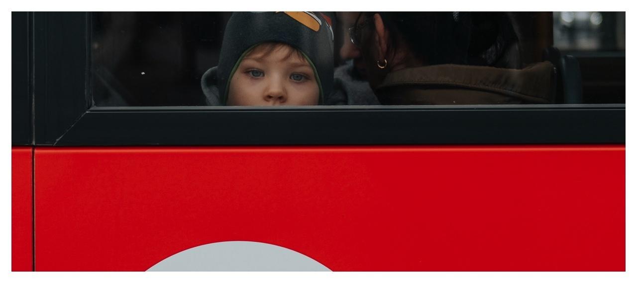 Boy on a bus