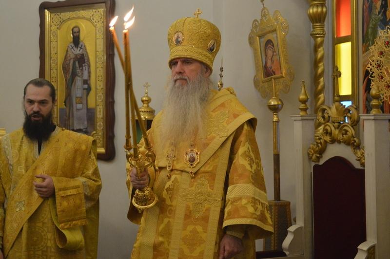 Архиерейская служба в день  святых праотец и пророка Аггея