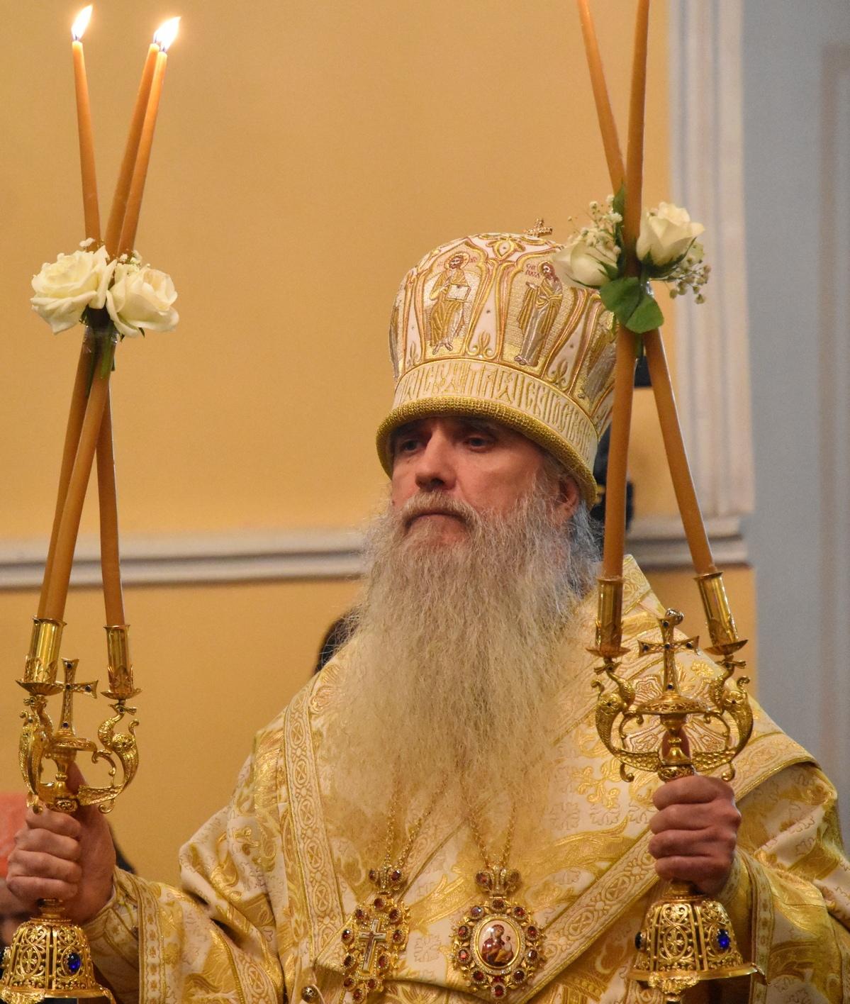 Архиерейская Рождественская Литургия в Свято-Троицком кафедральном соборе