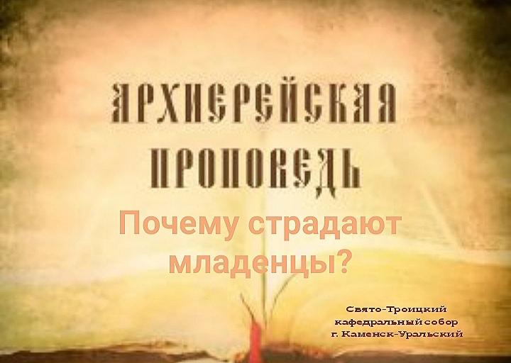 Проповедь Преосвященного Мефодия «Почему страдают младенцы?»