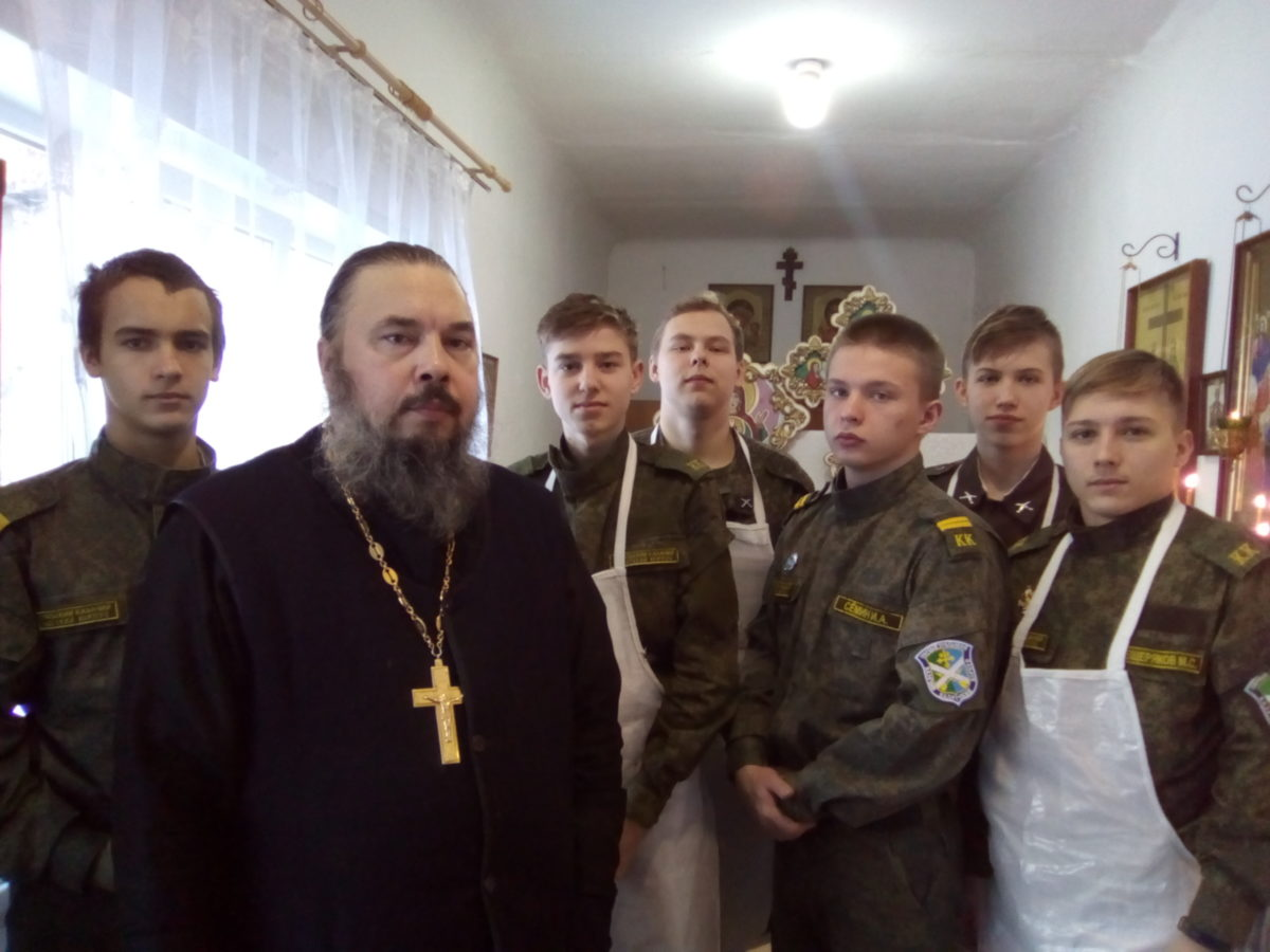 Кадеты отмечают праздник Крещения Господня в храме во имя св.влмц. Екатерины г.Богданович