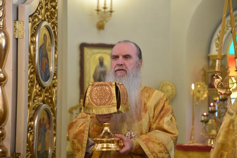 Архиерейская Божественная литургия в день памяти преподобного Евфимия Великого