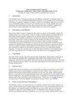 Standard terms website