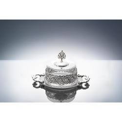 Emsan Lüks Kek Fanus Rays Gümüş 22 Cm