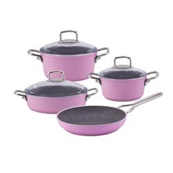 Emsan Premium Granit 7 Parça Tencere Seti Baby Pink