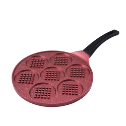 Emsan Smile 26 cm Waffle Tava Kırmızı