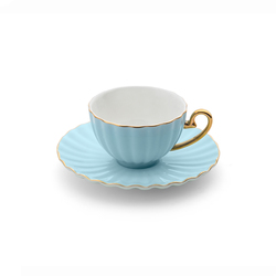 Emsan Marsilya 6 Kişilik Kahve Fincan Takımı Mavi