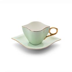 Emsan Sonsuz Aşk 2 Kişilik Kahve Fincan Takımı Yeşil