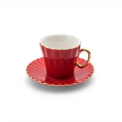Emsan Nancy 2 Kişilik Kahve Fincan Takımı Kırmızı
