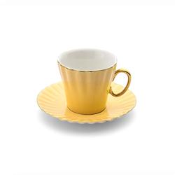 Emsan Nancy 2 Kişilik Kahve Fincan Takımı Sarı