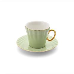 Emsan Nancy 2 Kişilik Kahve Fincan Takımı Yeşil