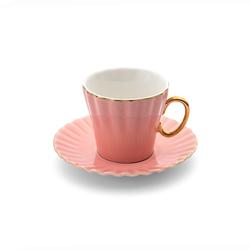 Emsan Nancy 2 Kişilik Kahve Fincan Takımı Pembe