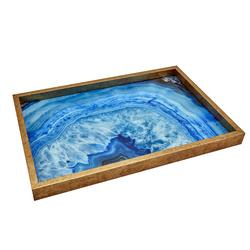 Okyanus Cam Baskı Tepsi 32x46 cm
