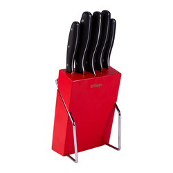 Yeni Mia 6 Parça Bıçak Seti Kırmızı